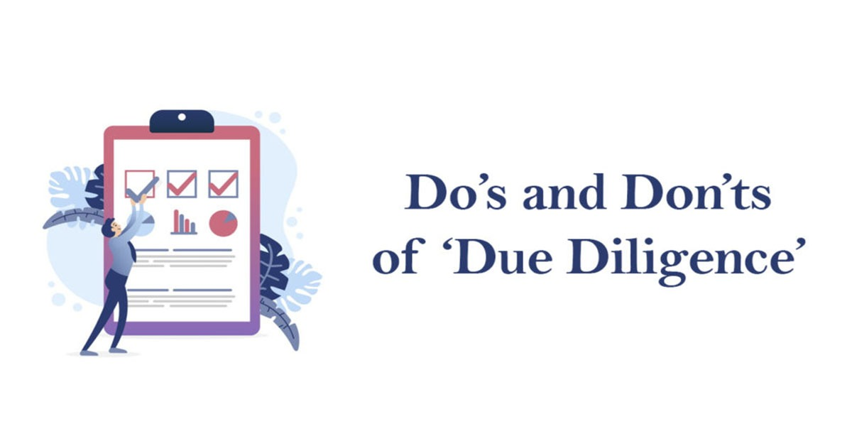 Do's and Don'ts of 'Due Diligence'